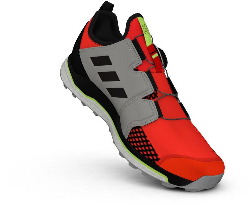 adidas TERREX Agravic Boa Chaussures de trail Homme, solar redcore blackgrey two